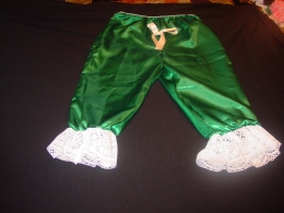 Green Satin Bloomers Pantaloons